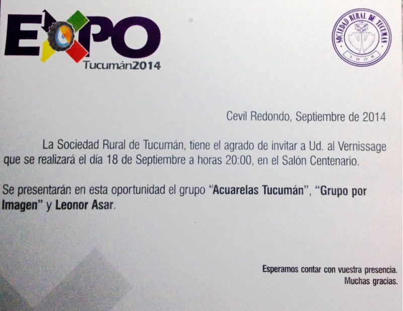 Invitación a la Muestra Fotográfica en La Rural